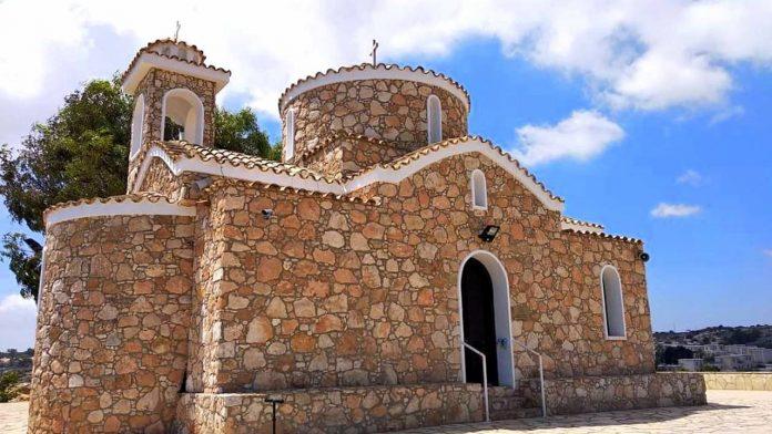 Каменная облицовка , Церковь Пророка Ильи, Протарас, Кипр