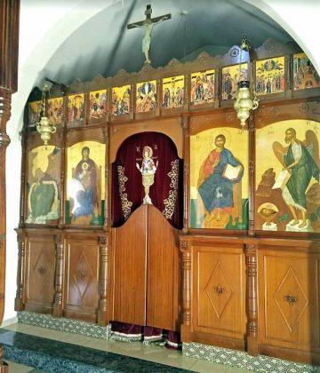 Расписной старинный алтарь, Церковь Пророка Ильи, Протарас, Кипр