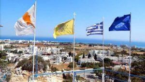 Вид на море с горы, Церковь Пророка Ильи, Протарас, Кипр