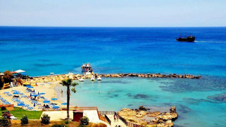 Бухта пляжа, Пляж Ломбарди, Протарас, Кипр