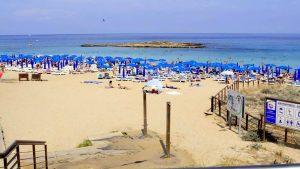 Мягкий песок на берегу пляжа, Пляж Ломбарди, Протарас, Кипр